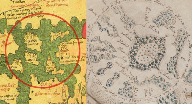 Folio 86 a map a discussion by marco ponzi stephen bax walspergers world map is partly similar to the xii century circular world map by al idrisi which also compares reasonably well with f86r diagram but the gumiabroncs Images