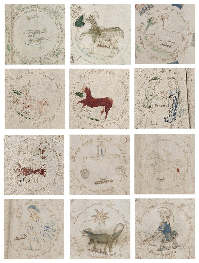 Composite of Voynich Zodiac images