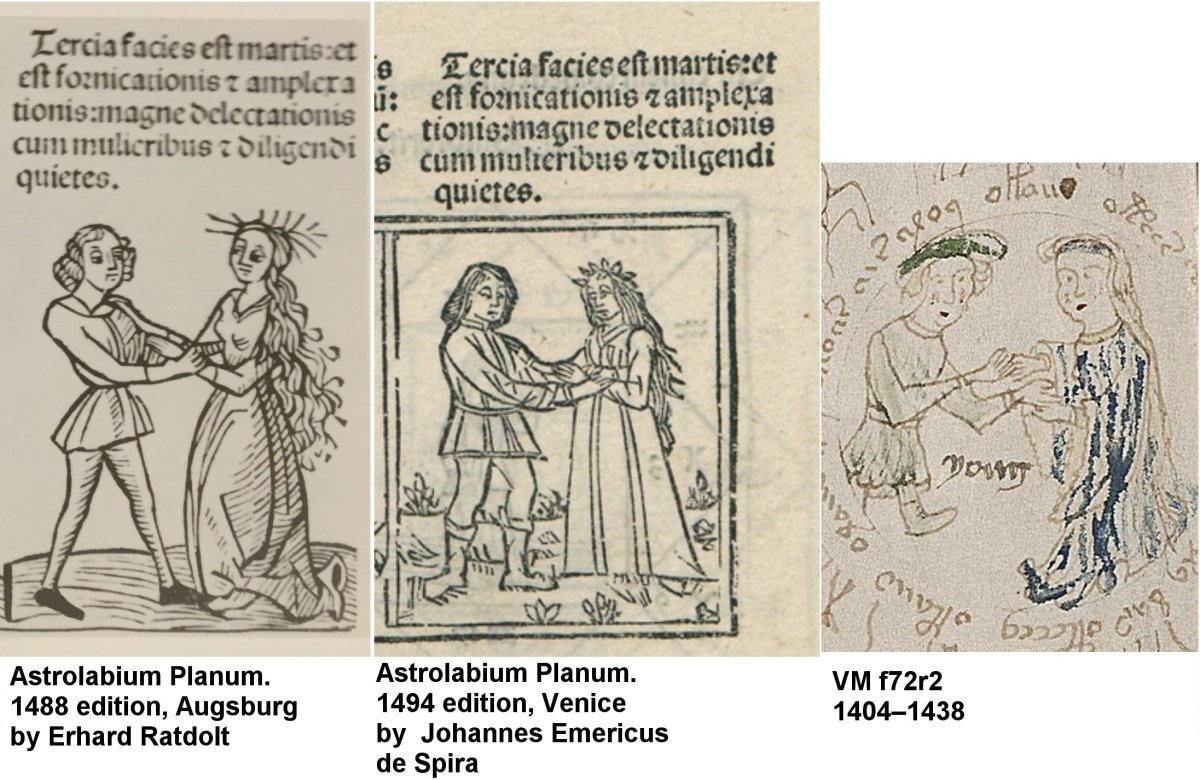 1488 meaning - These Woodcuts Depicting The Decanal Image Of Mars As An Embracing Couple Look Very Similar To The Vm Gemini Twins